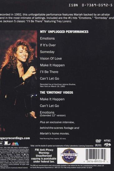 Mariah Carey: MTV Unplugged +3 (1992)
